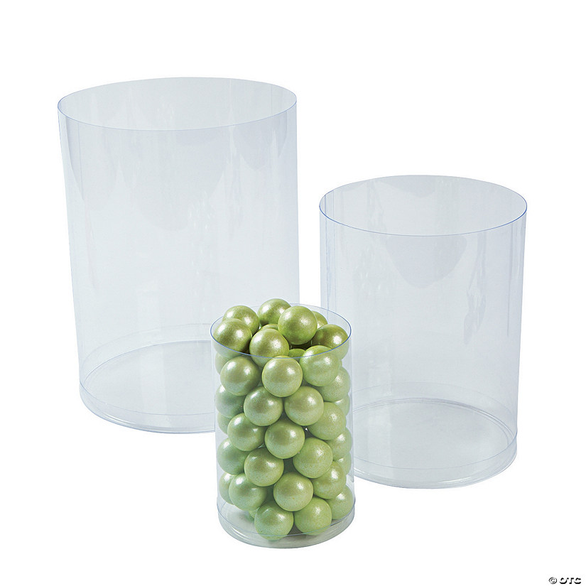 Clear Candy Buffet Cylinders