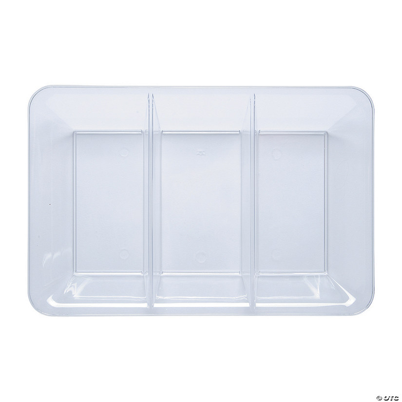 Clear Compartment Tray