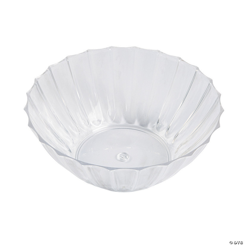 Clear Fluted Bowl