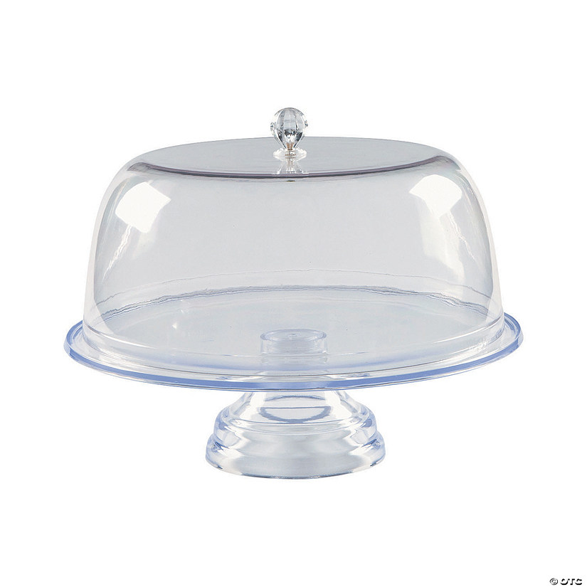 Clear Footed Cake Stand with Cover