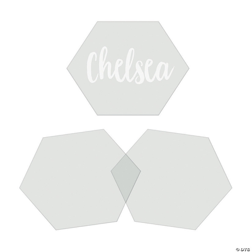 Clear Hexagon Place Cards Audio Thumbnail