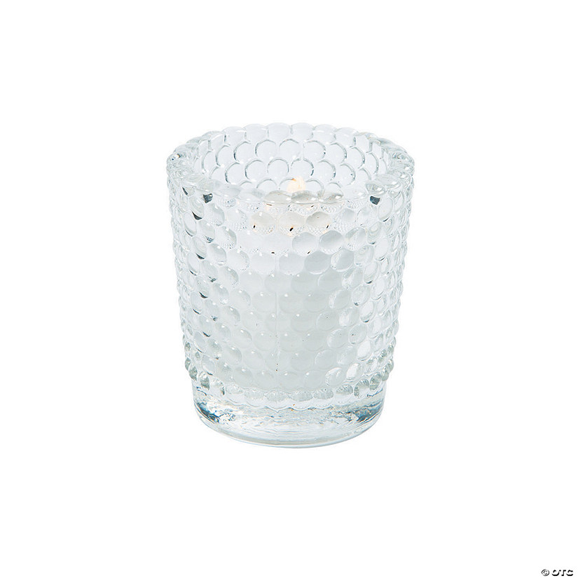 Clear Hobnail Glass Votives