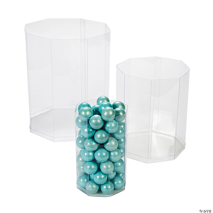 Clear Octagon Candy Containers Audio Thumbnail