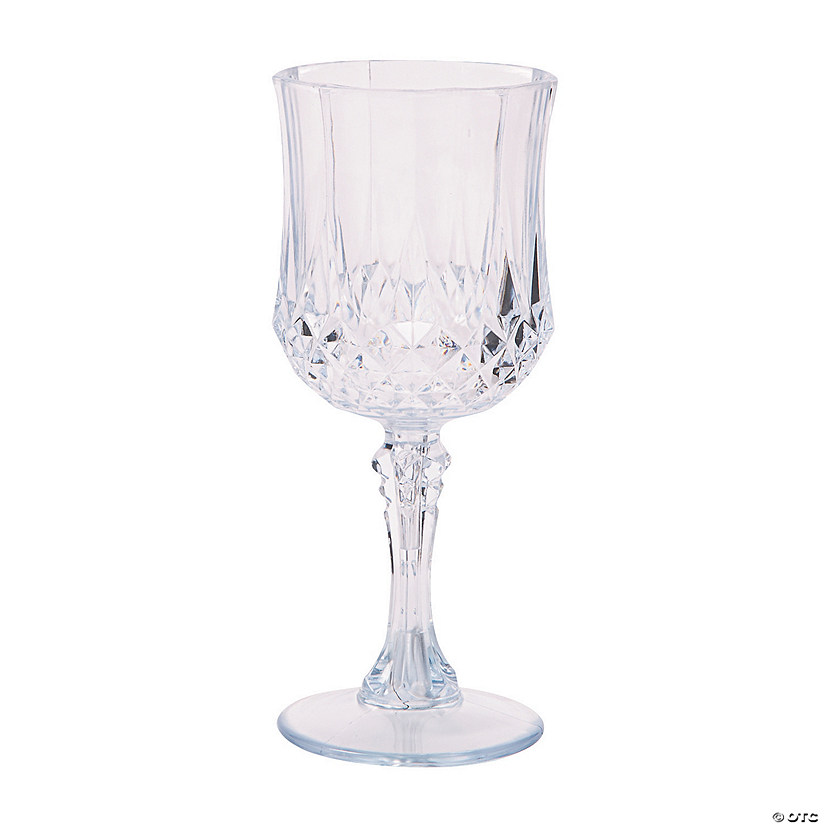 Clear Patterned Plastic Wine Glasses Audio Thumbnail