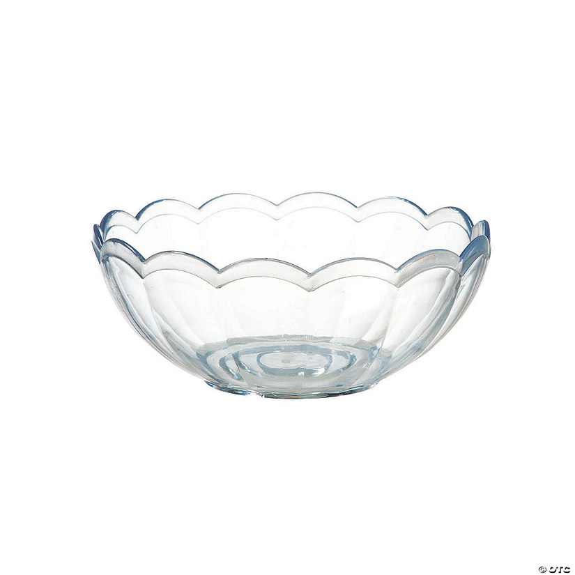 Clear Premium Plastic Snack Bowl with Scalloped Edge