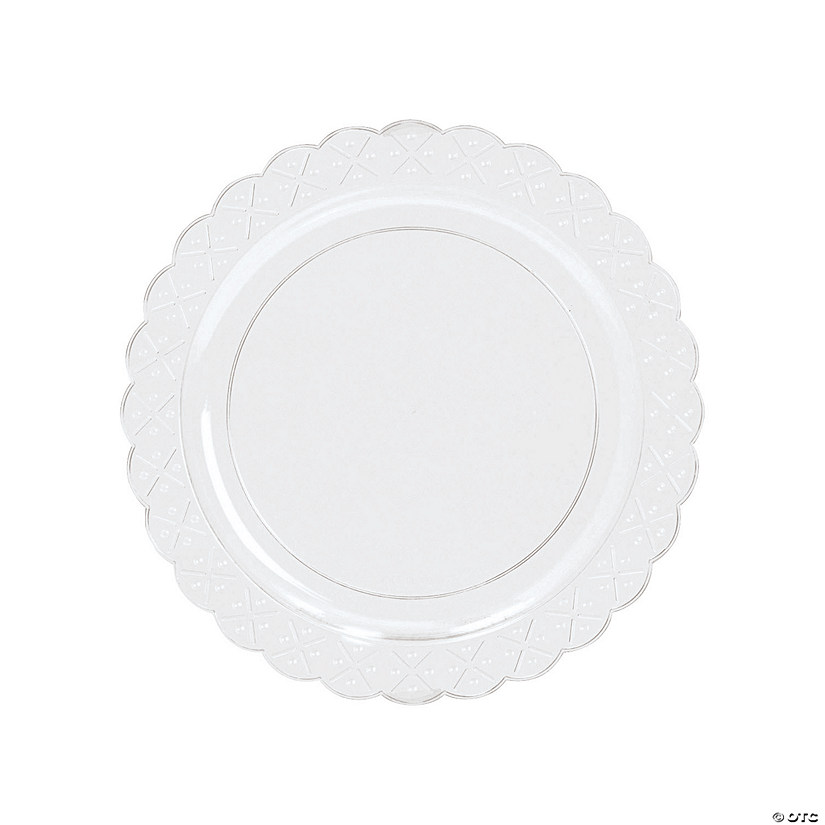 Clear Scalloped Plastic Salad Plates - 25 Ct. Image Thumbnail