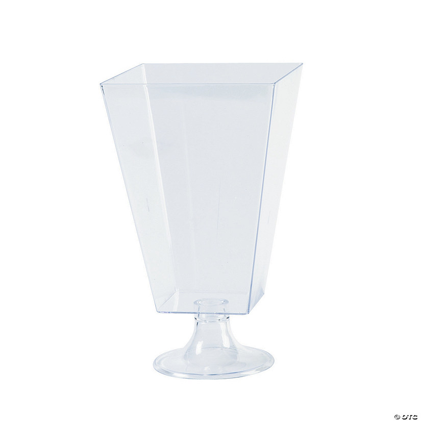 Clear Square Pedestal Plastic Jar