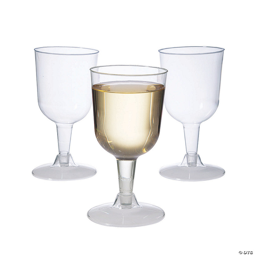 Clear Two-Piece Plastic Wine Glasses - 40 Pc. Audio Thumbnail