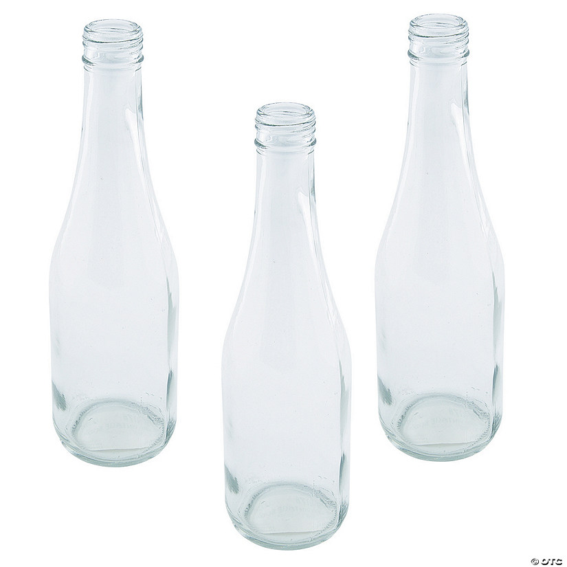 Clear Vintage Soda Bottles