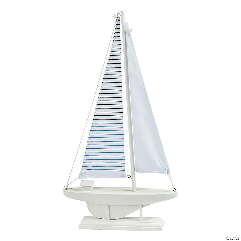 Coastal Seaside Sailboat Centerpiece