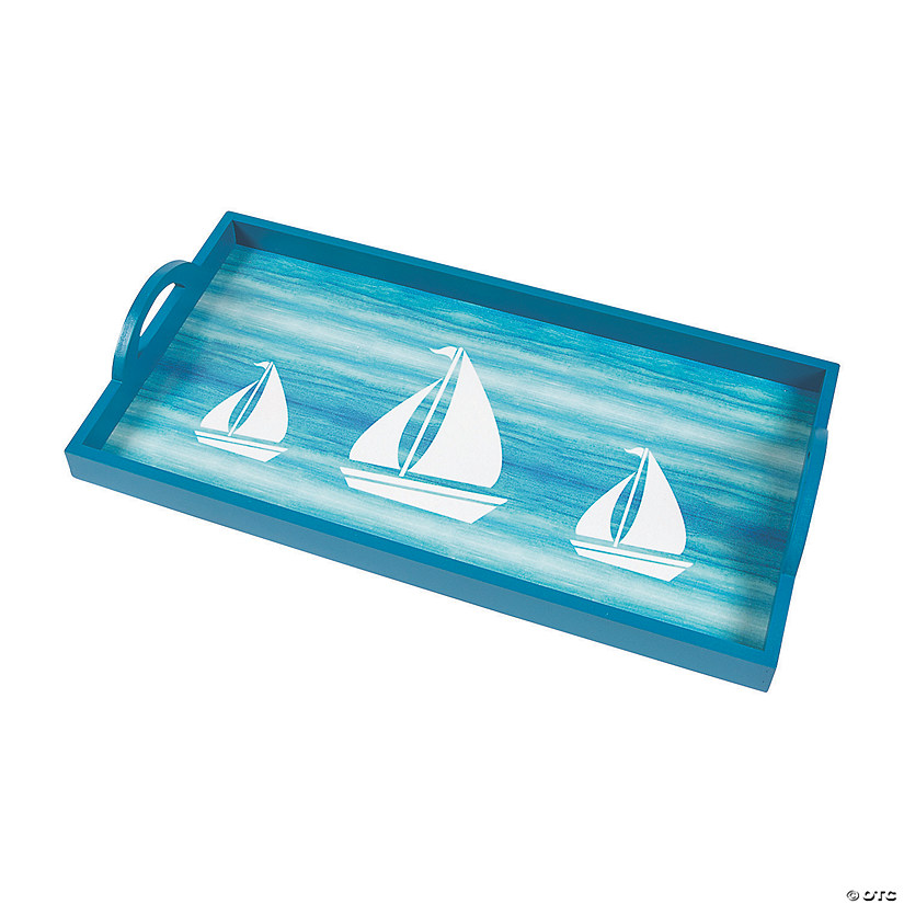 Coastal Seaside Serving Tray Discontinued