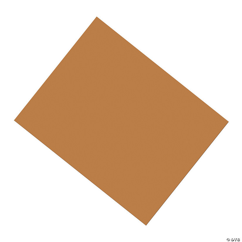 "Coated Poster Board, Brown, 22"" x 28"", 25 Sheets"