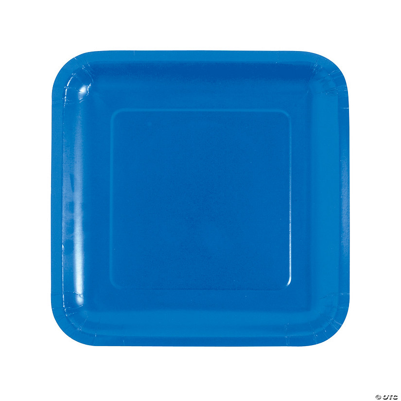 Cobalt Blue Square Paper Dinner Plates - 18 Ct. Audio Thumbnail