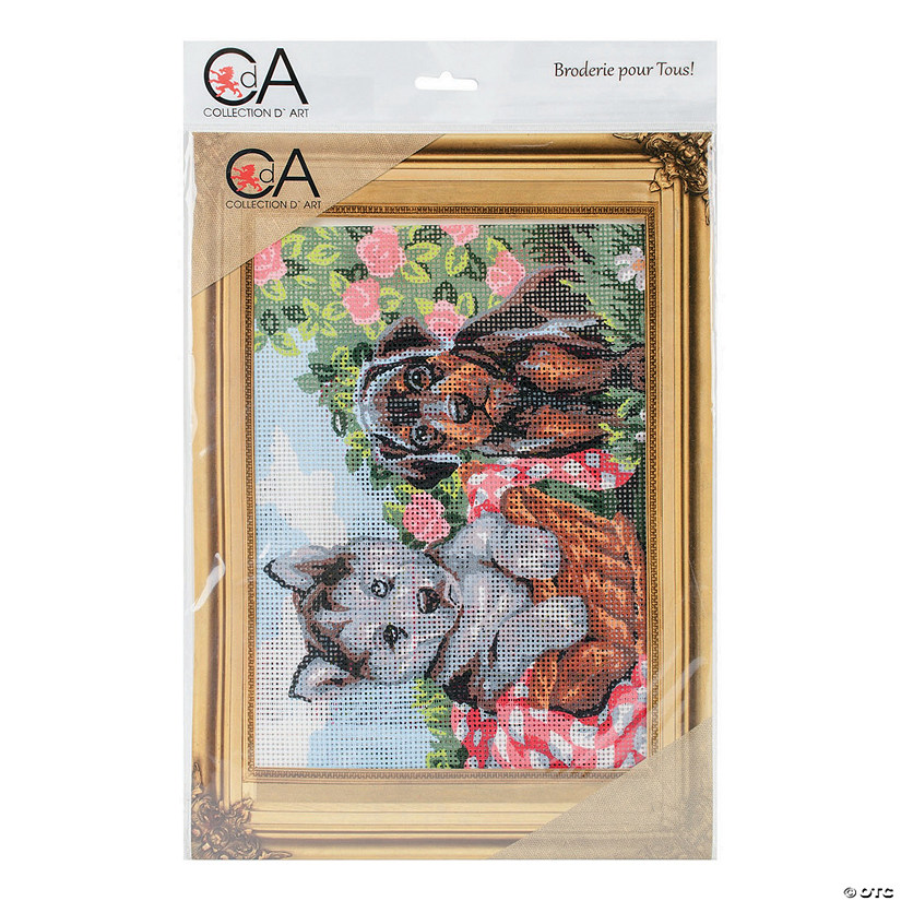 Collection D'Art Stamped Needlepoint Kit - Doggie Friends Audio Thumbnail