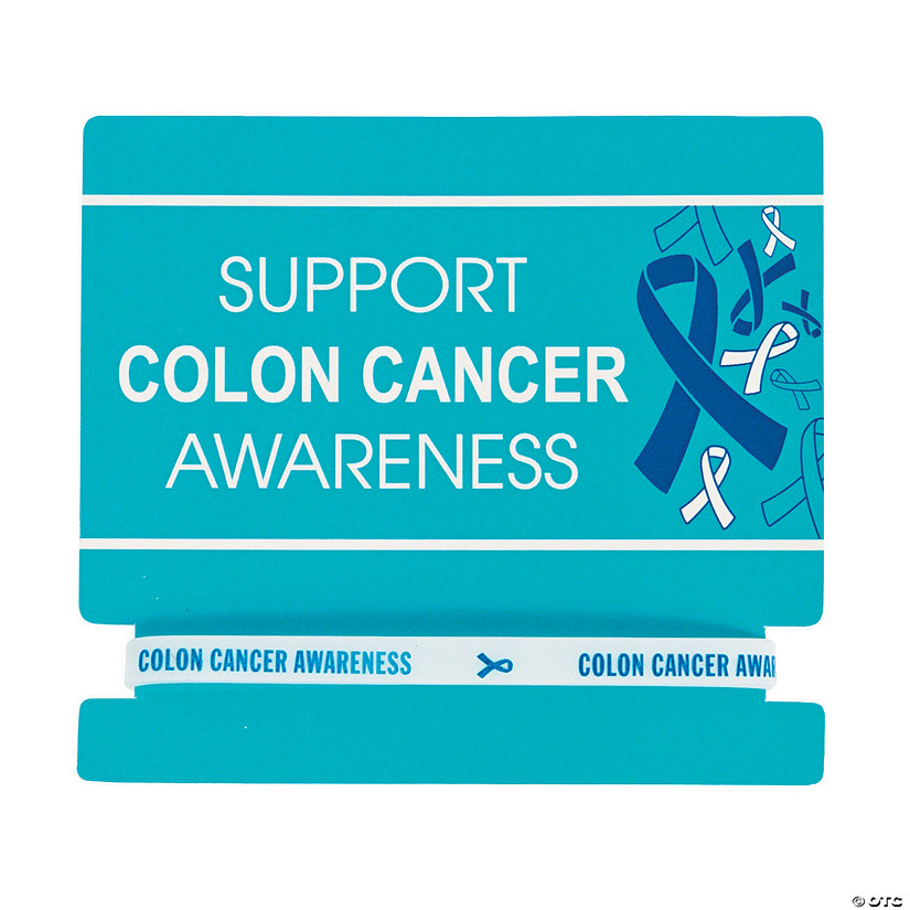 Colon Cancer Awareness Rubber Bracelets on Card Audio Thumbnail