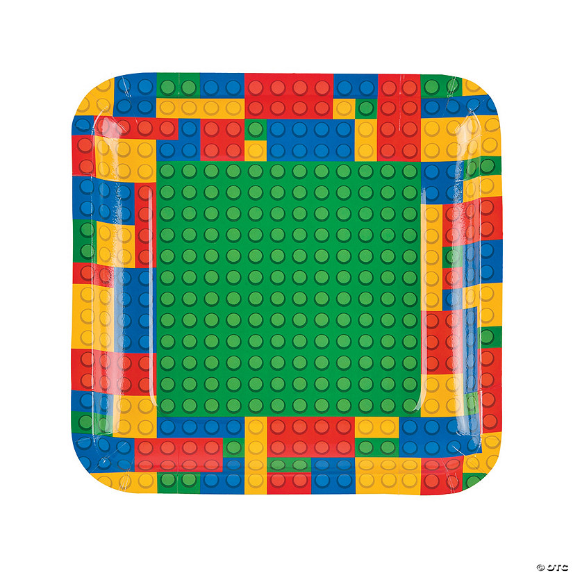 Color Brick Party Paper Dinner Plates - 8 Ct. Audio Thumbnail