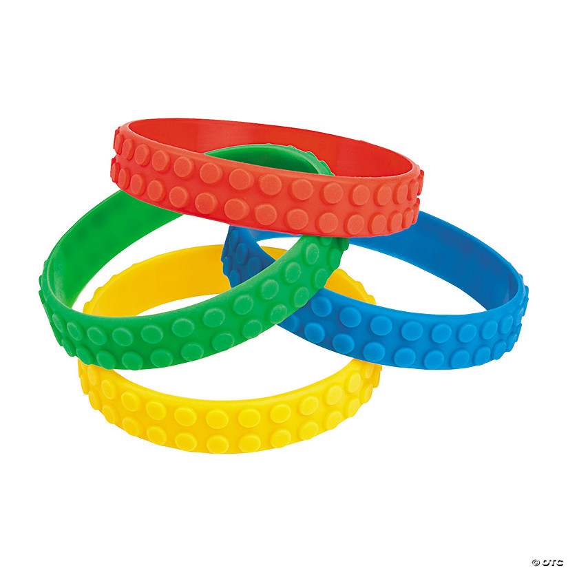 Color Brick Party Rubber Bracelets