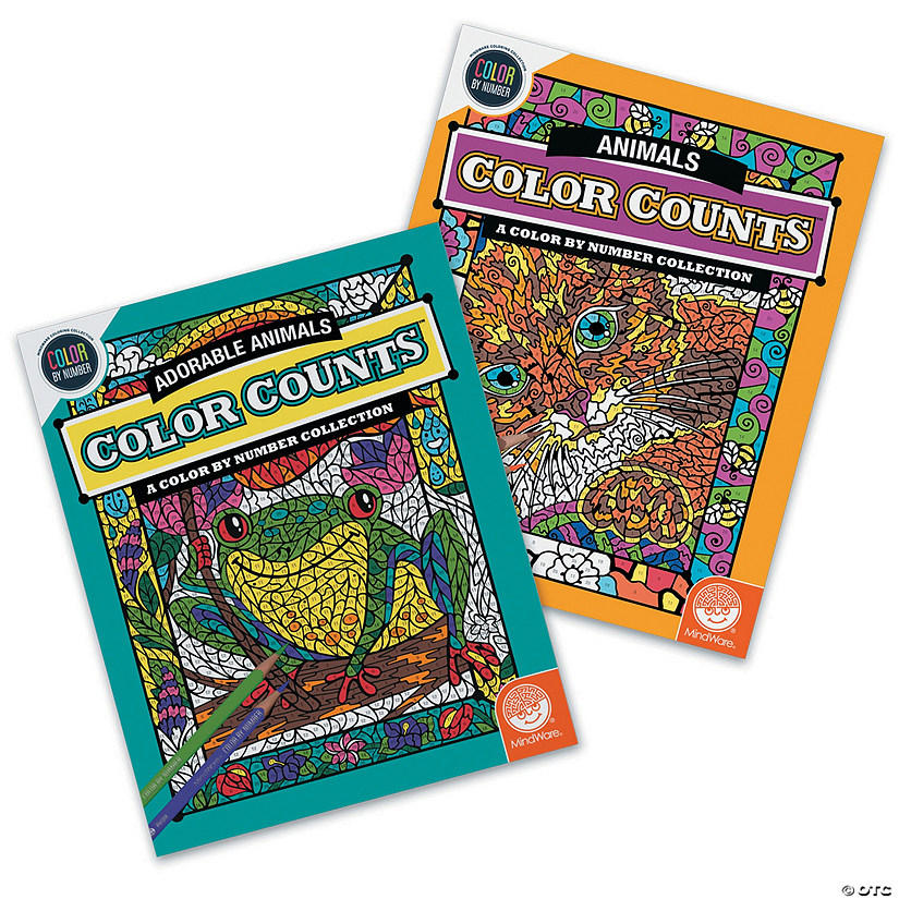 Color By Number Color Counts: Animals Set of 2
