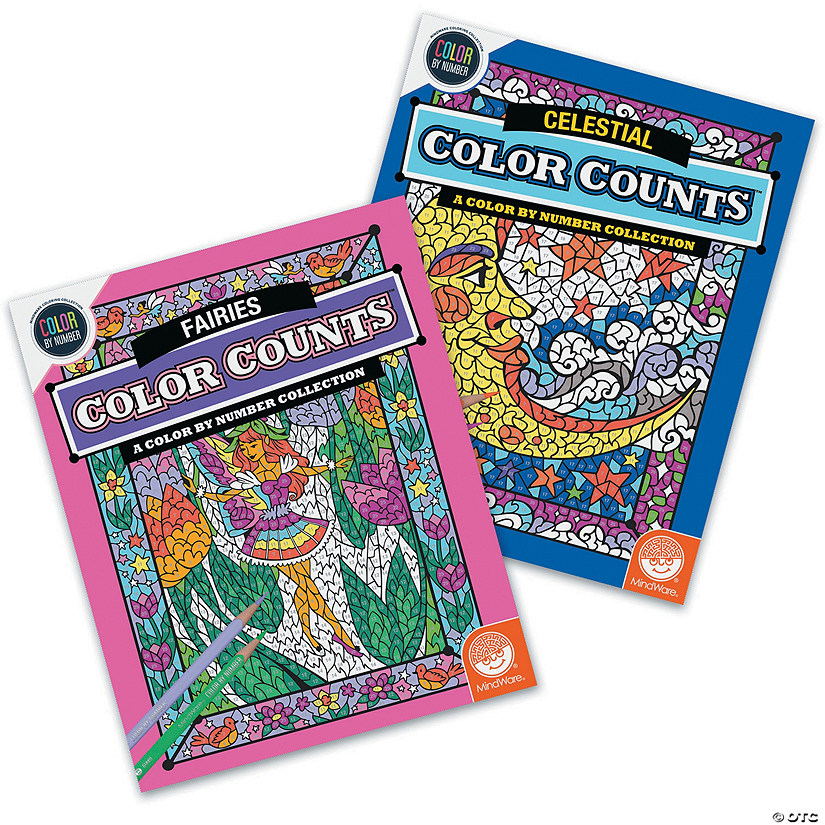 Color by Number Color Counts: Fairies and Celestial Set of 2