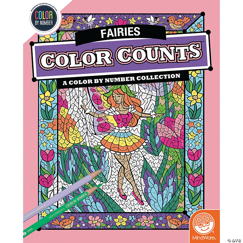 Color by Number Color Counts: Fairies Image Thumbnail