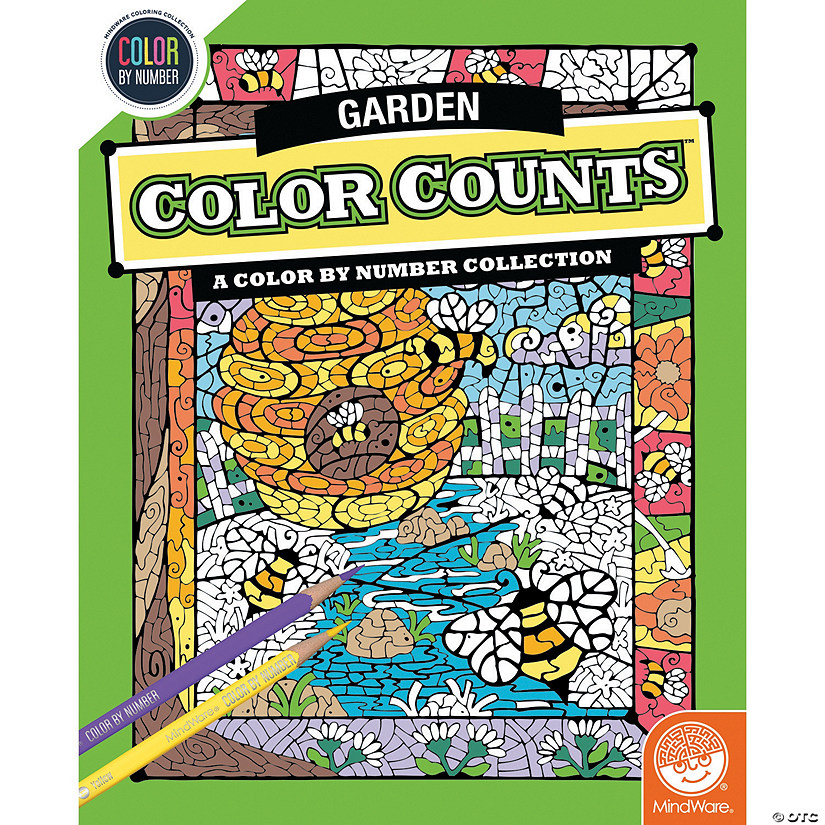 Color by Number Color Counts: Gardens