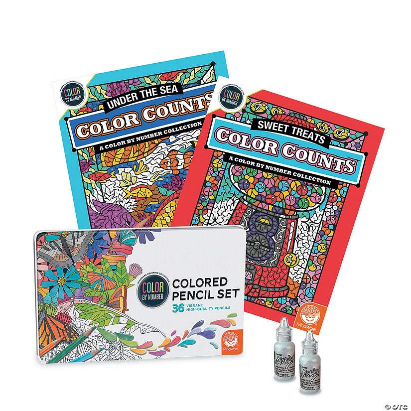 Color by Number Color Counts: Glitter Set of 2