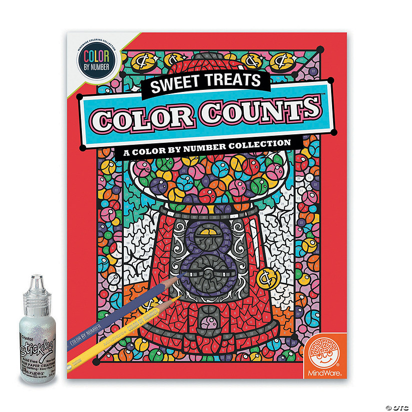 Color by Number Color Counts: Glitter Sweet Treats Image Thumbnail