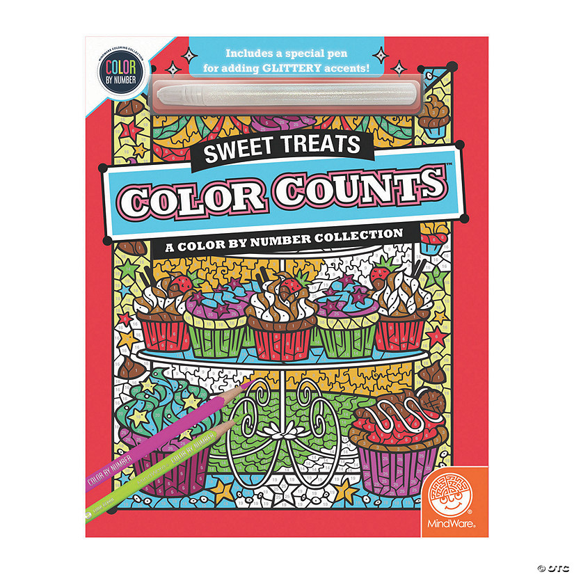 Color by Number Color Counts: Glitter Sweet Treats Audio Thumbnail
