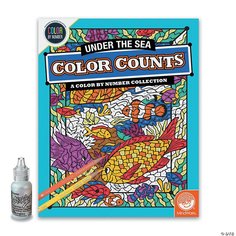 Color by Number Color Counts: Glitter Under the Sea Image Thumbnail
