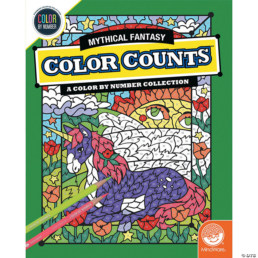 Color by Number Color Counts: Mythical Fantasy Image Thumbnail