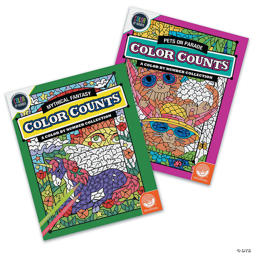 Color by Number Color Counts: Pets & Fantasy Set of 2 Image Thumbnail