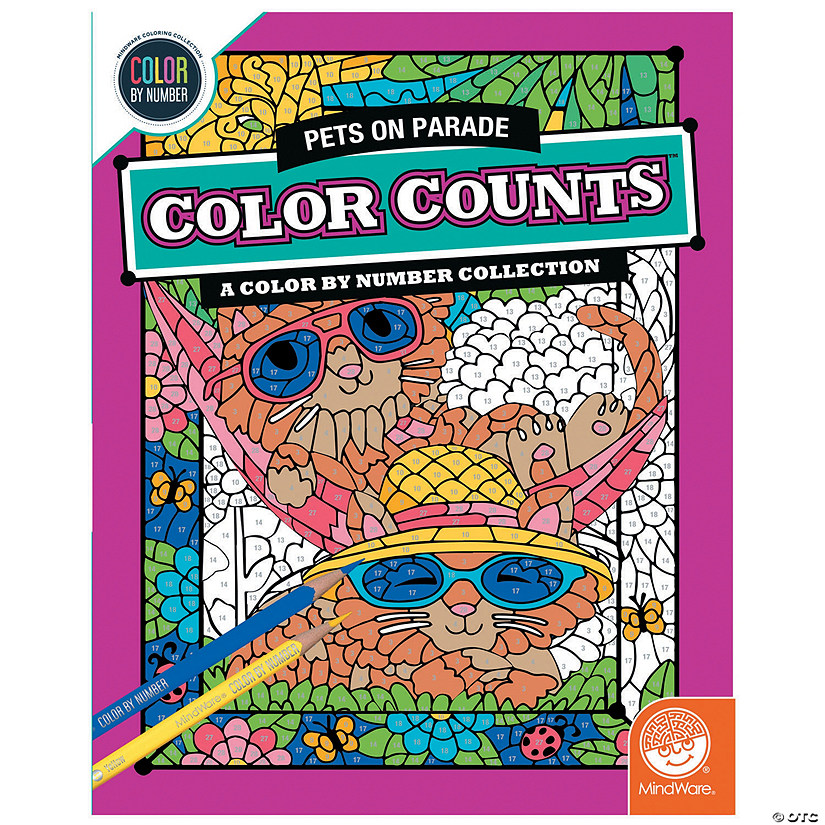 Color by Number Color Counts: Pets on Parade
