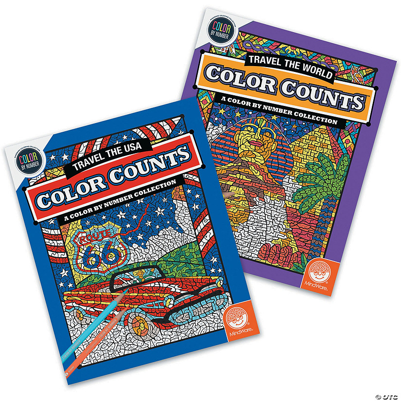 Color by Number Color Counts: Travel Set of 2