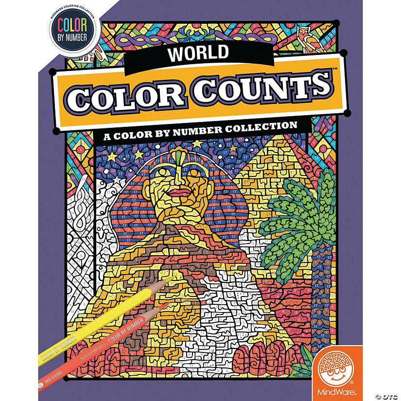 Color by Number Color Counts: Travel the World