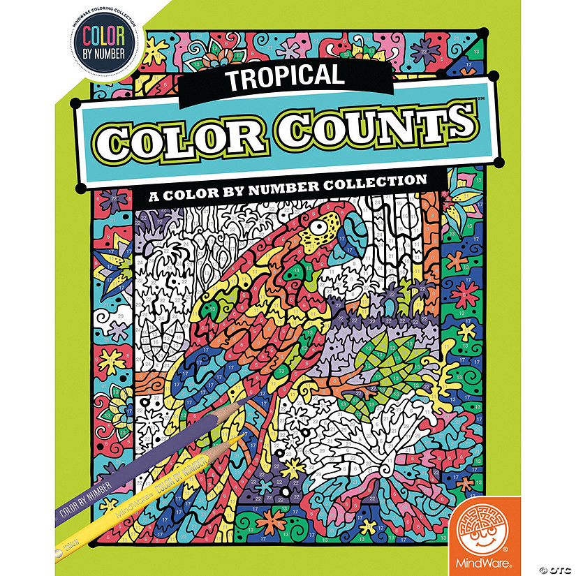 Color by Number Color Counts: Tropical