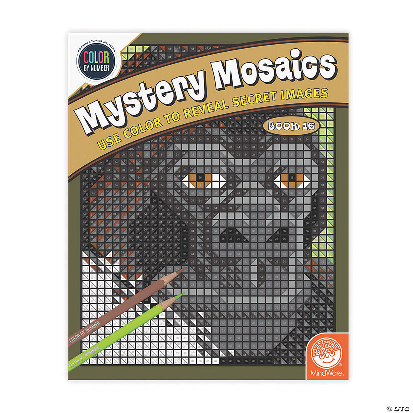 Color By Number Mystery Mosaics: Book 16