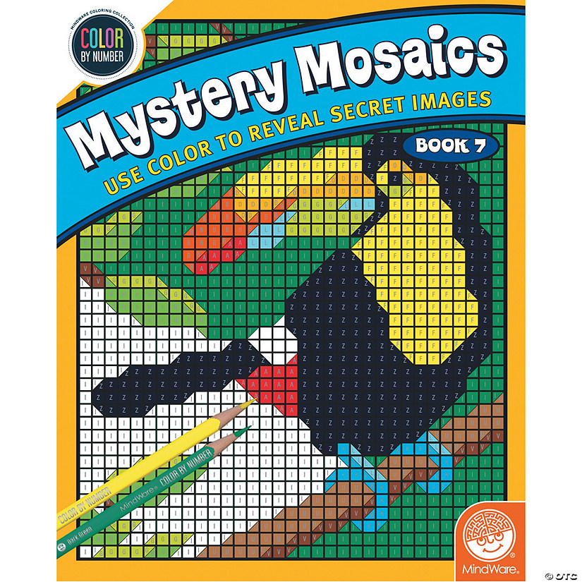 Color By Number Mystery Mosaics: Book 7