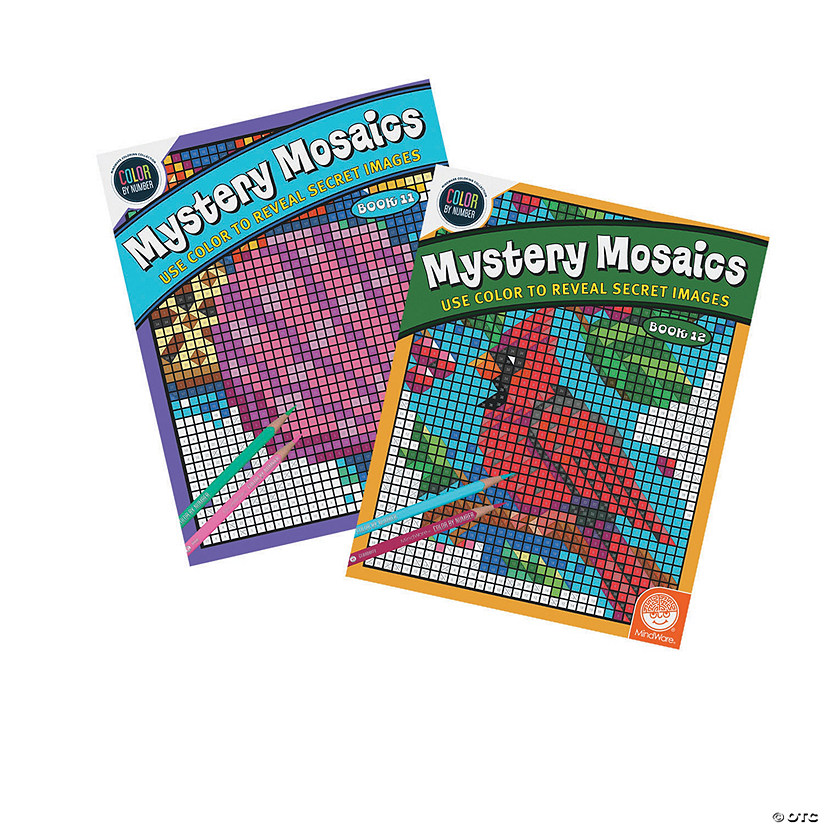 Color By Number Mystery Mosaics: Books 11 & 12
