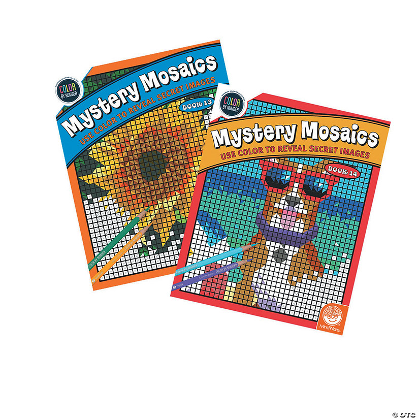 Color by Number Mystery Mosaics: Books 13 & 14