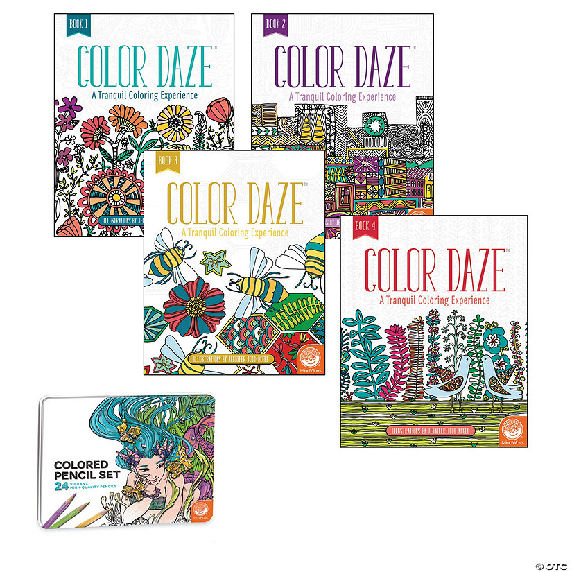 Color Daze: Set of 4 with 24 Colored Pencils Image Thumbnail