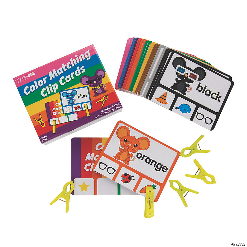 Color Matching Clip Cards Image Thumbnail
