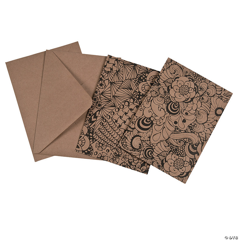 Color Me Kraft Paper Notecards