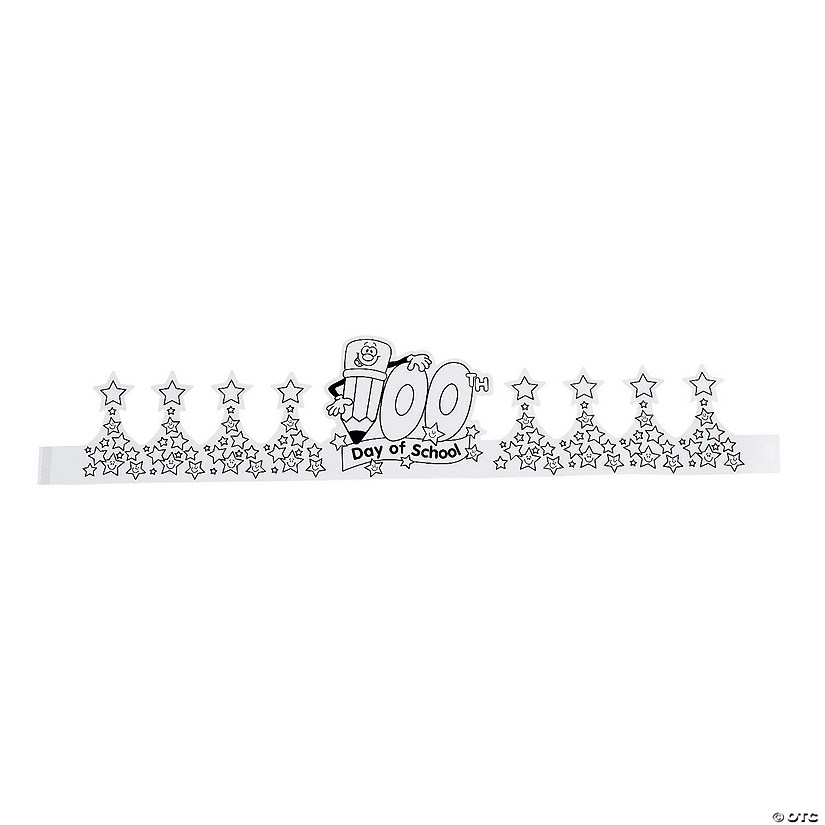 Color Your Own 100th Day of School Crowns