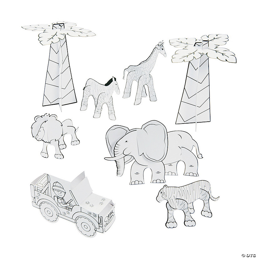 Color Your Own 3D Safari Expedition Play Set Audio Thumbnail