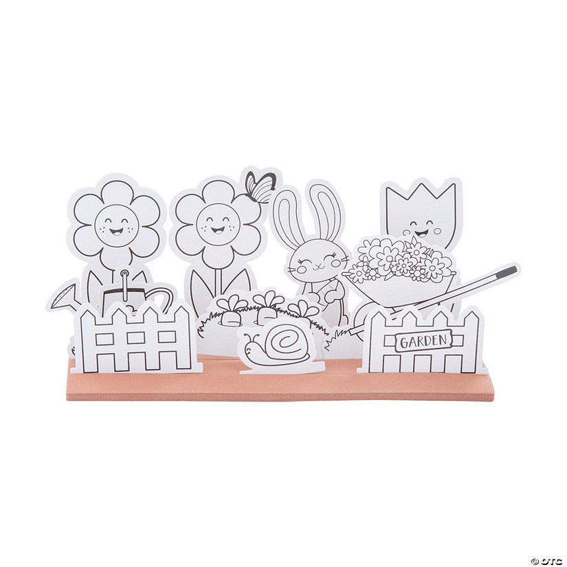 Color Your Own 3D Spring Garden Craft Kit Audio Thumbnail
