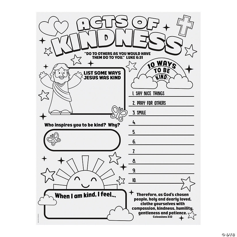 Color Your Own Acts of Kindness Posters Audio Thumbnail