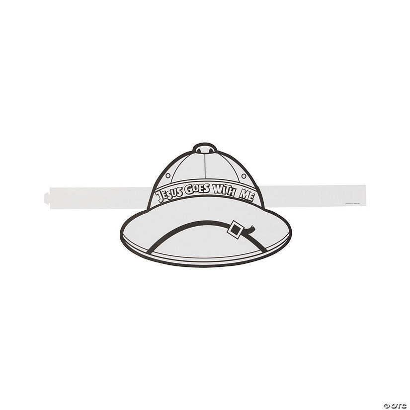 Color Your Own African Safari VBS Hats