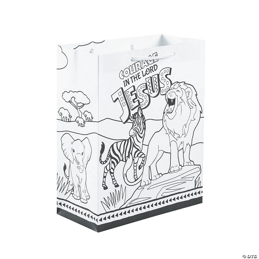 Color Your Own African Safari VBS Take Home Bags