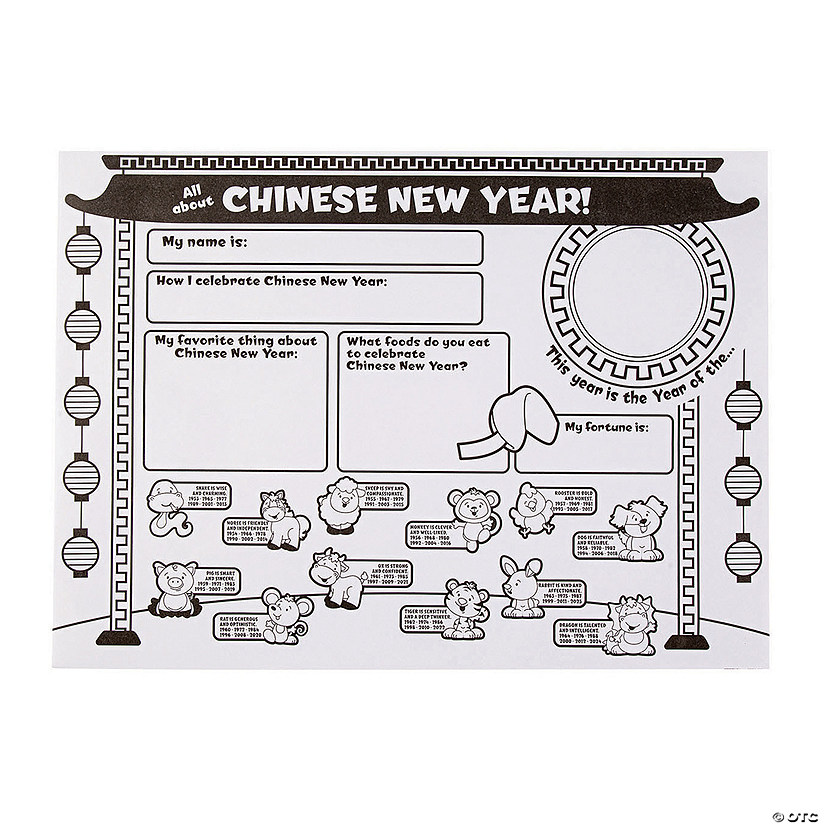 "Color Your Own ""All About Chinese New Year"" Posters Audio Thumbnail"
