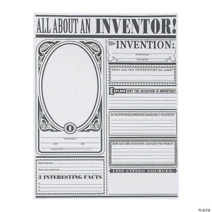 "Color Your Own ""All About Inventors"" Posters"
